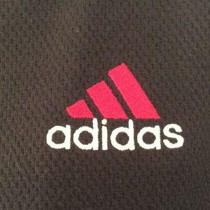 adidas Jackets & Coats - Adidas black/red sweat jacket w/hood S